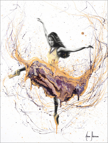 Poster Danseuse en orange et violet