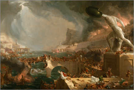 Poster  Chute de Rome (Destruction) - Thomas Cole