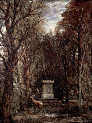 Tableau en PVC  The Cenotaph to Reynold's Memory - John Constable