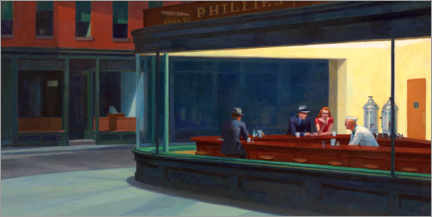 Tableau en PVC  Nighthawks - Edward Hopper