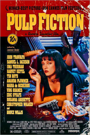 Tableau en verre acrylique  Pulp Fiction (anglais) - Entertainment Collection