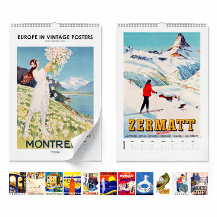Calendrier mural  Europe In Vintage Posters 2021