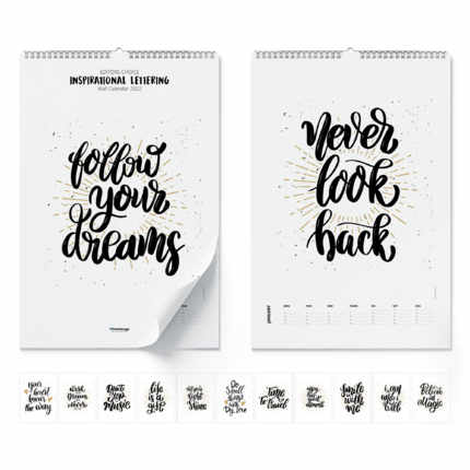 Calendrier mural  Inspirational Lettering 2021