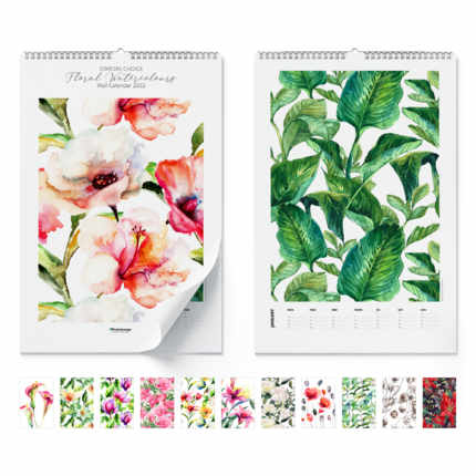 Calendrier mural  Floral Watercolours 2021