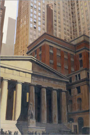 Poster Federal Hall, Wall Street