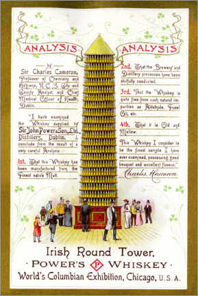 Poster  Irish round tower (anglais) - Advertising Collection