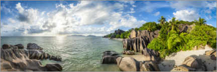 Poster Panorama des Seychelles