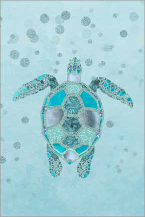 Poster  Tortue bleue - Andrea Haase