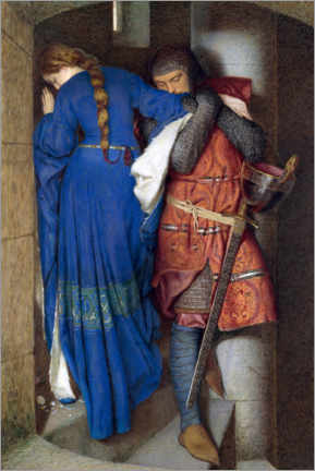 Poster  Rencontre dans les escaliers de la tour - Frederic William Burton