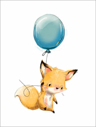 Poster  Petit renard avec un ballon - Kidz Collection