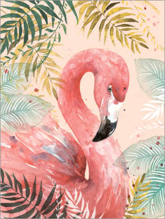 Poster  Flamant rose dans la jungle - Di Brookes