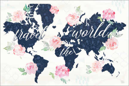 Poster Travel the world carte