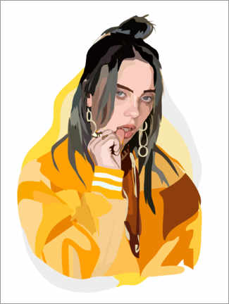 Tableau en plexi-alu  Billie Eilish - Anna McKay