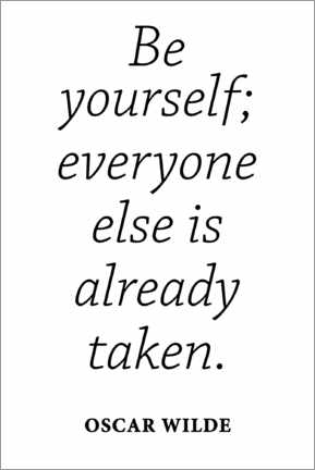 Poster Citation d'Oscar Wilde, Be yourself (anglais)