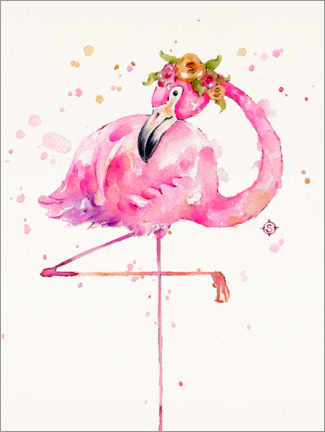 Poster  Flamant rose - Sillier Than Sally