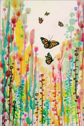 Poster  Papillons - Sylvie Demers
