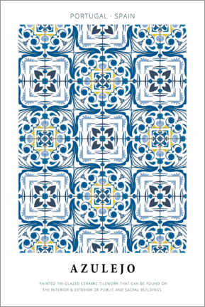 Poster  Azulejo (englisch) - Art Couture