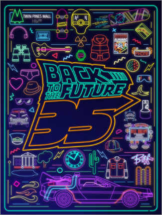 Poster  Back to the future - neon items