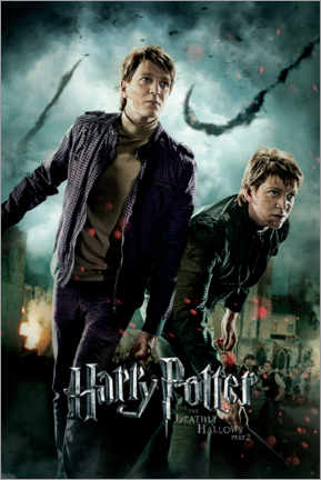 Tableau en bois  The Deathly Hallows II - Fred & George