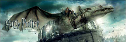 Tableau sur toile  The Deathly Hallows II - Dragon