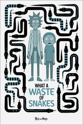 Poster  Rick and Morty - Waste of Snakes