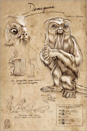 Poster Fantastic Beast - Demiguise