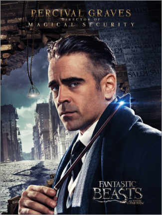 Tableau en plexi-alu  Fantastic Beasts and Where to Find Them - Percival Graves