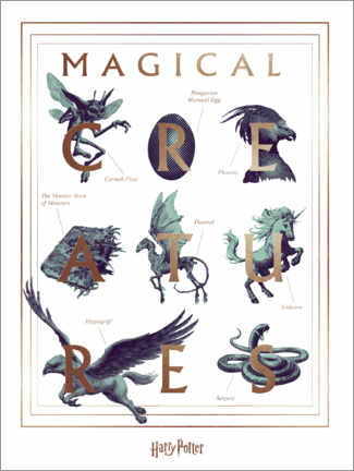 Poster  Harry Potter - Magical Creatures