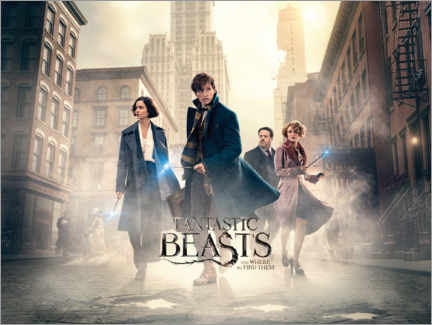 Sticker mural  Fantastic Beasts and Where to Find Them - Theatrical poster
