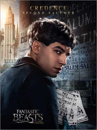 Tableau en verre acrylique  Fantastic Beasts and Where to Find Them - Credence Barebone