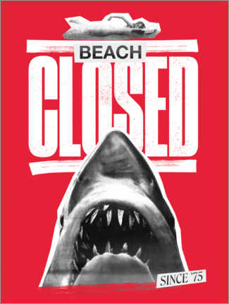 Poster  Beach closed since 1975