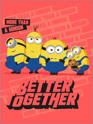 Tableau en bois  Minions - Better Together