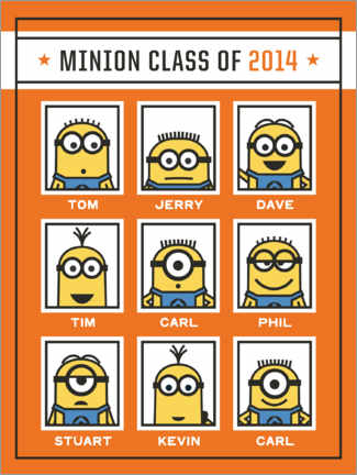 Sticker mural  Minions class of 2014 - prénoms