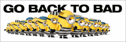 Sticker mural  Minions - Back to bad