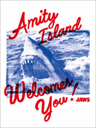 Sticker mural  Welcome to Amity Island!