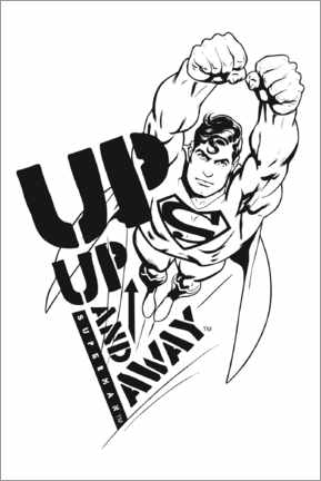 Poster  Superman - Up and away
