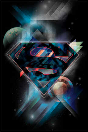 Sticker mural  Superman Iconic Space Shield