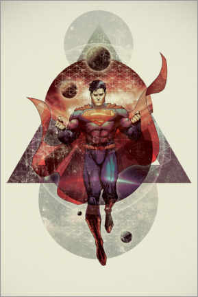 Poster  The powerful Superman