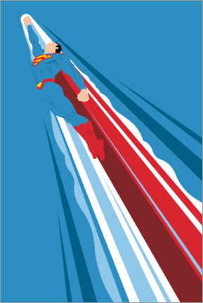 Poster  Superman - Into the blue