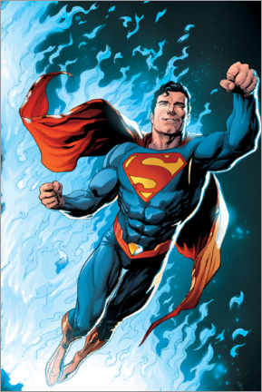Poster  Superman - Blue Flame