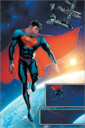 Poster  Superman space comic