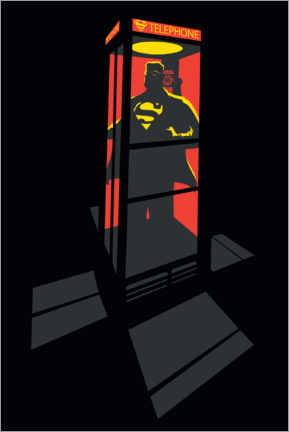 Poster  Superman Phone Booth - red