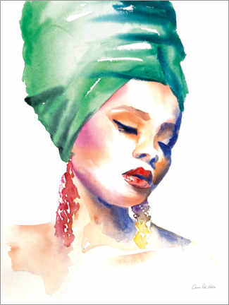 Poster Woman in Green