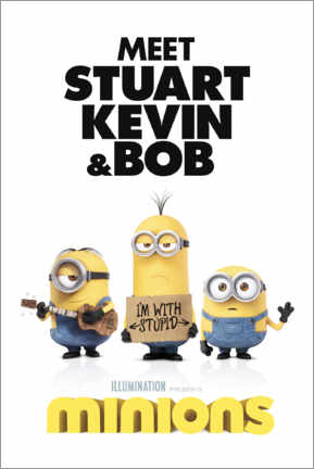 Tableau sur toile  Minions - I'm with stupid