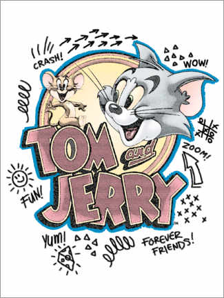 Tableau sur toile  Tom and Jerry Fun Art