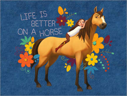 Sticker mural  Life is better on a horse