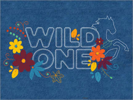 Poster  Wild one - broderies