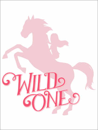 Poster  Wild one, silhouette rose