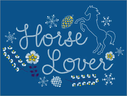 Poster  Horse lover - broderies