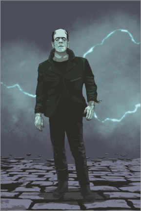 Tableau sur toile  Frankenstein - electrifying